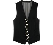lace-up wool waistcoat