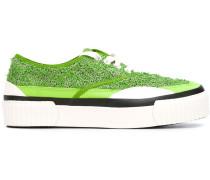 Sneakers mit Plateau - women - Baumwolle/rubber