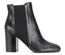 Chelsea-Boots mit Schlangenleder-Optik