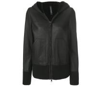 shearling zip jacket