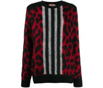 Pullover mit Leoparden-Muster