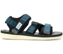 metallic effect sandals