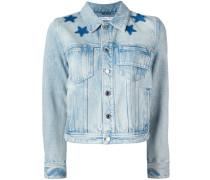 star print bleached jacket