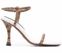 Pipe Sandalen mit Schlangen-Effekt