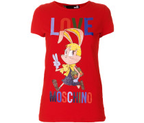 cartoon logo T-shirt