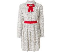 embellished pussy bow dress