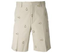 Shorts mit Glühbirne-Stickereien