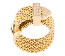 18kt 'Polonaise' Gelbgoldring mit Diamanten