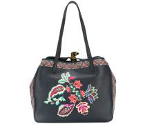 Handtasche mit Blumenmuster