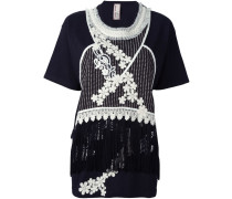 embroidered fringed top