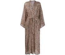 Kimono-Kleid mit Leoparden-Print