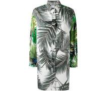 Langes Hemd mit Blatt-Print - women - Baumwolle