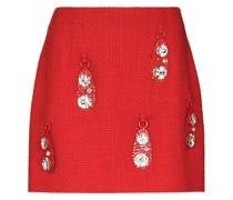 crystal-pendant miniskirt