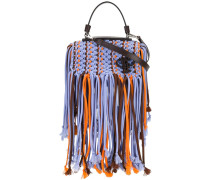 fringed trim cross body bag