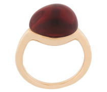9kt 'Rouge Passion' Goldring mit Saphir