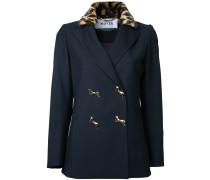 Jacke mit Leoparden-Kragen