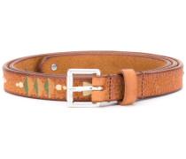 Pathway print belt - women - Leder - 75
