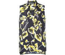 Ärmellose Bluse mit Blumen-Print - women