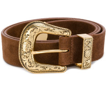 gold-tone buckle belt