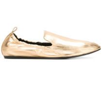 Metallic-Loafer mit Elastikband - women