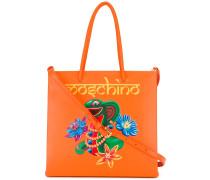 - Handtasche mit Schlangen-Print - women - Leder