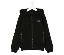 zipup logo hoodie