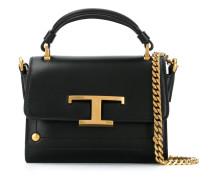 Kleine Handtasche mit T-Logo