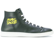 branded hi-top sneakers