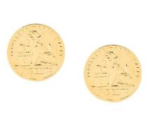 Vergoldete 'Coin' Sterlingsilber-Ohrstecker