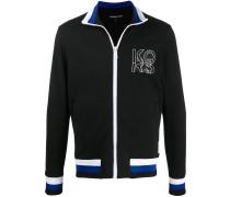 Sweatshirtjacke mit Logo-Applikation