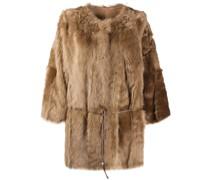 tie-wais fur coat