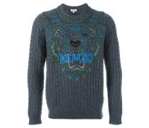 'Tiger' Pullover mit Zopfmuster