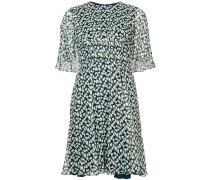 graphic print tea dress