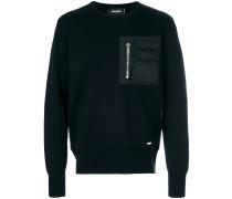 Sweatshirt mit Kontrasttasche