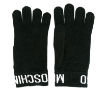 logo trim gloves