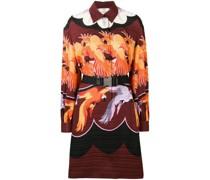 Hemdkleid mit Papagei-Print
