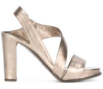 Metallic-Sandalen mit Blockabsatz - women