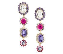 gemstone and crystal drop earrings