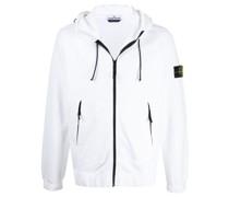 zipped drawstring hooded jacket