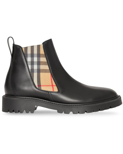 Chelsea-Boots mit Vintage-Check
