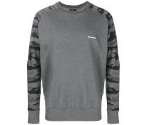 Sweatshirt mit Camouflage-Ärmeln