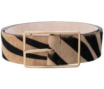 'Milla' Gürtel mit Zebra-Print
