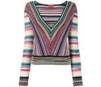 Pullover mit tiefem V-Ausschnitt - women