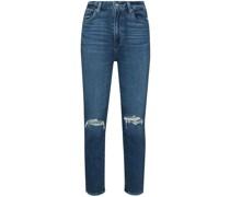'Sarah' Jeans in Distressed-Optik