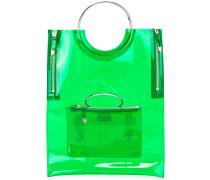 Vinyl-Handtasche mit Ringhenkeln - women
