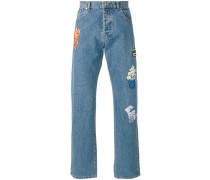 - Jeans mit Applikationen - men