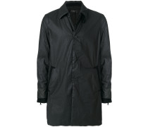 Einreihiger Mantel mit texturiertem Design