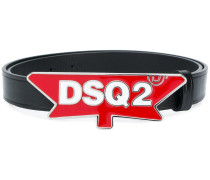 logo plaque belt