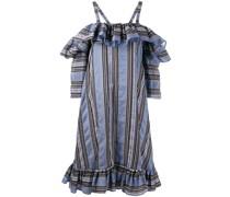 Gestreiftes 'Floss' Kleid mit Volants