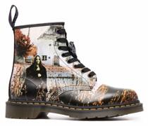 Stiefel mit grafischem Print